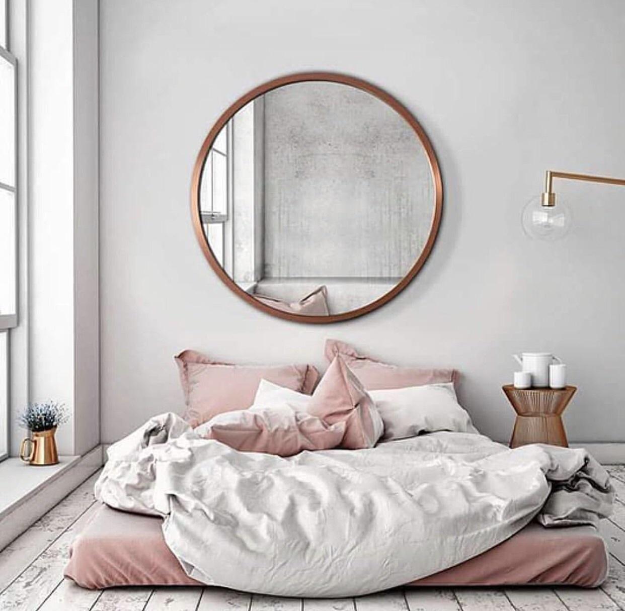 Top déco] 17 manières de décorer la chambre avec un miroir  Cocon