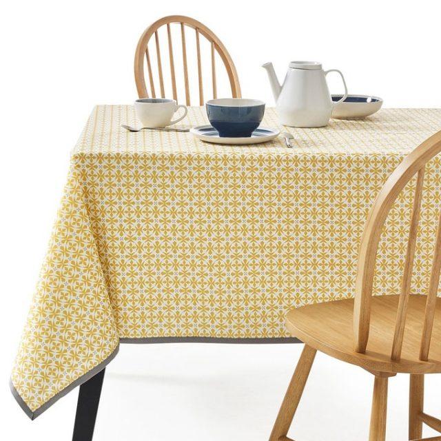 nappe cuisine jaune a motif
