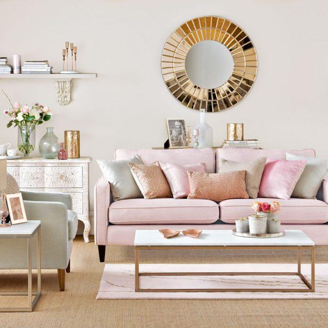 salon rose et blanc canape douceur
