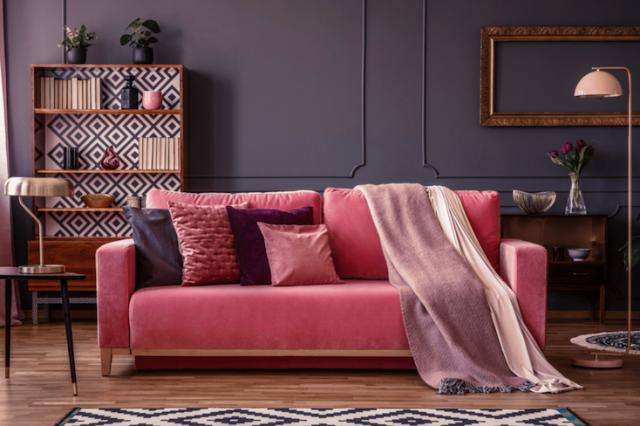 salon rose idee decoration couleur