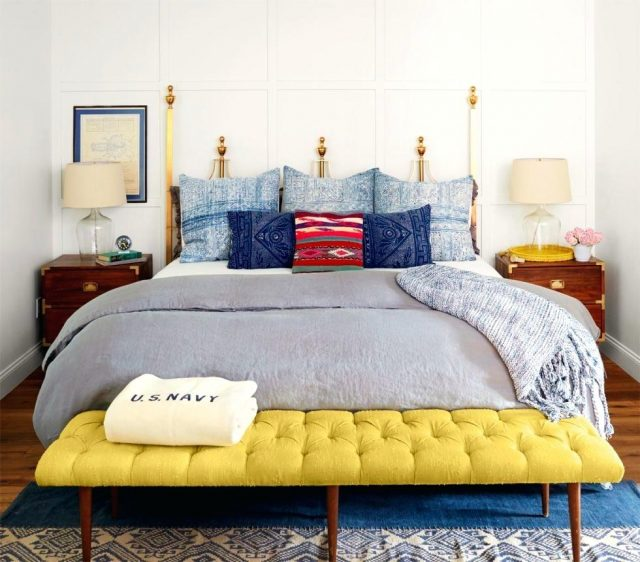 chambre jaune detail decoration