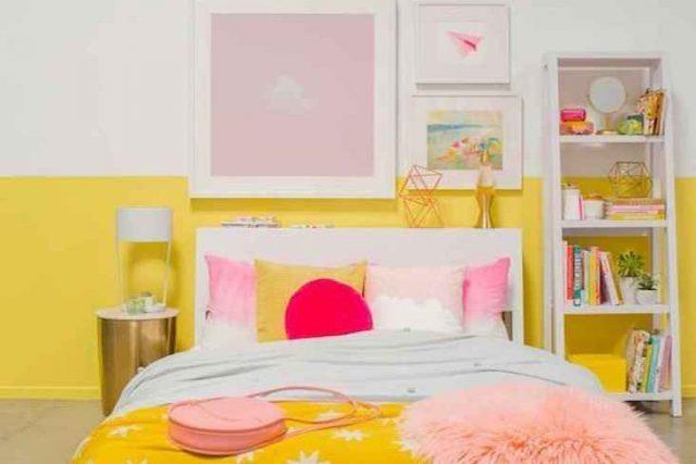 chambre jaune idee decoration interieure