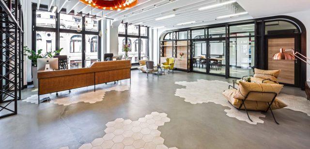 carrelage hexagonal beton cire interieur industriel
