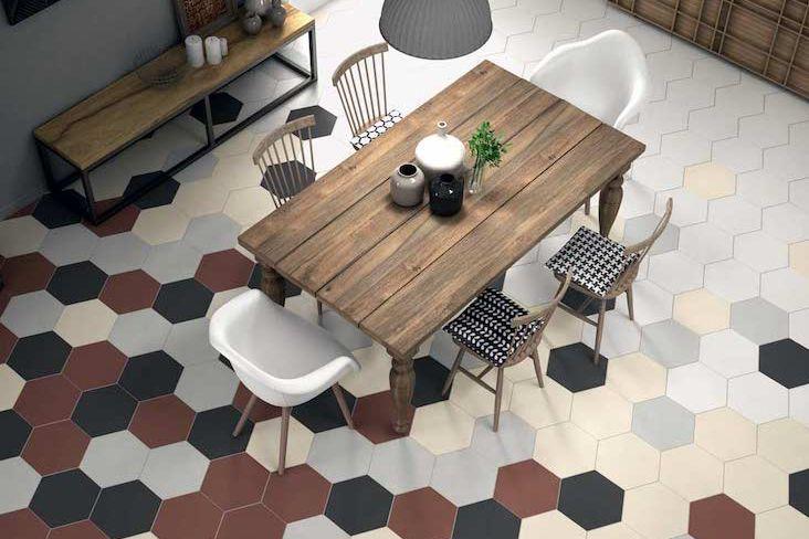 carrelage hexagonal idee deco maison