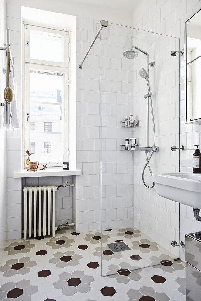 carrelage hexagonal motif salle de bain