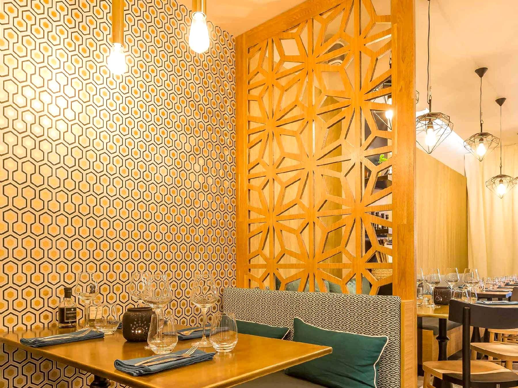 claustra deco bois separation espace motif