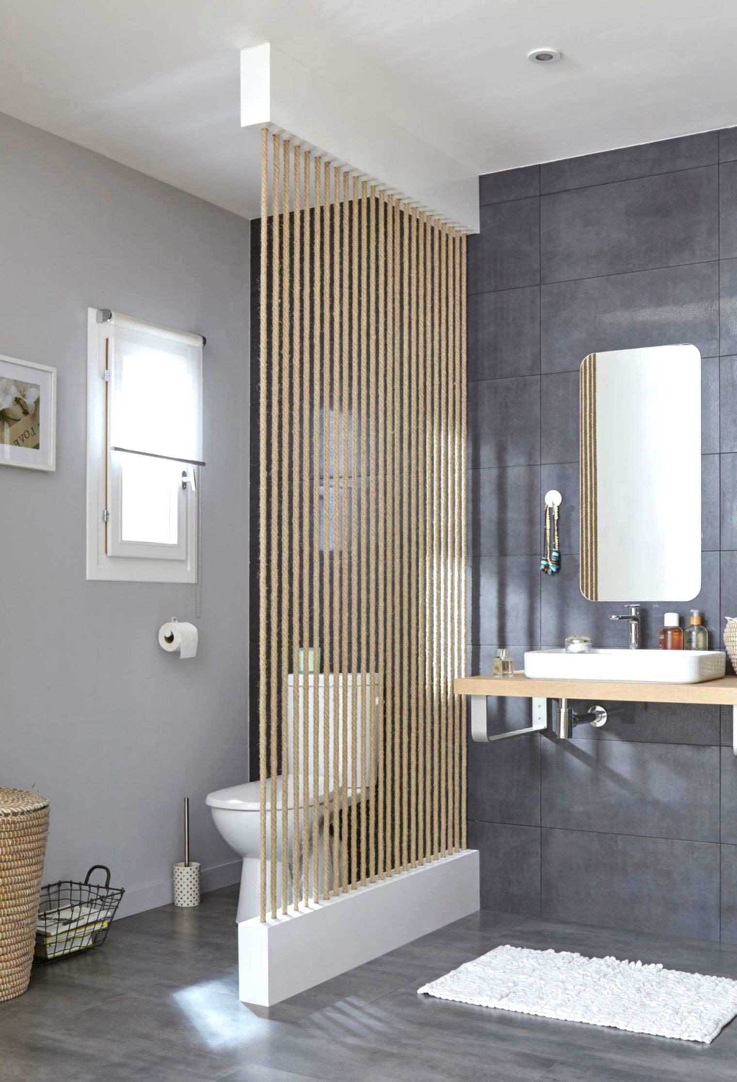 claustra decoration salle de bain cloison toilette