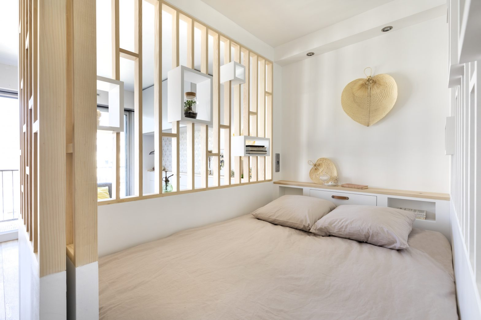 chambre claustra studio coin sommeil