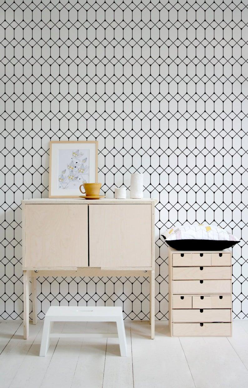 Papier Peint Noir Et Blanc Graphique slow intérieur] des papiers peints minimalistes | cocon