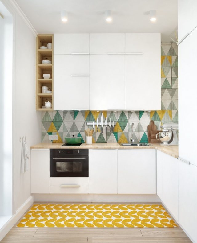 petite cuisine idee deco mobilier blanc