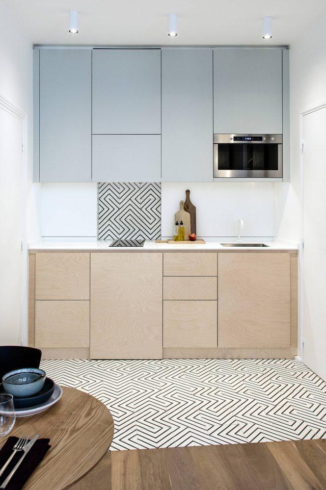 petite cuisine meuble couleur