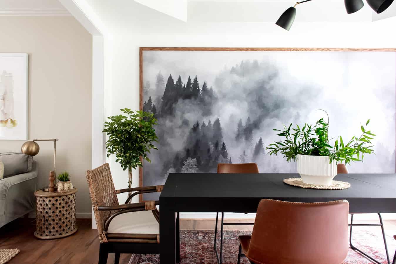 Comment Habiller Un Grand Mur De Salon idées déco] décorer la salle à manger avec des cadres