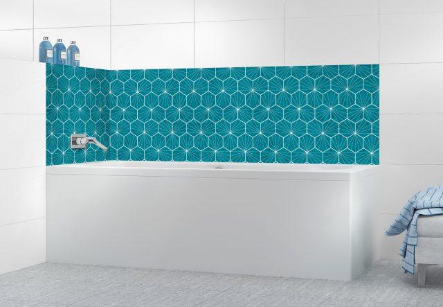 salle de bain bleu idee credence originale