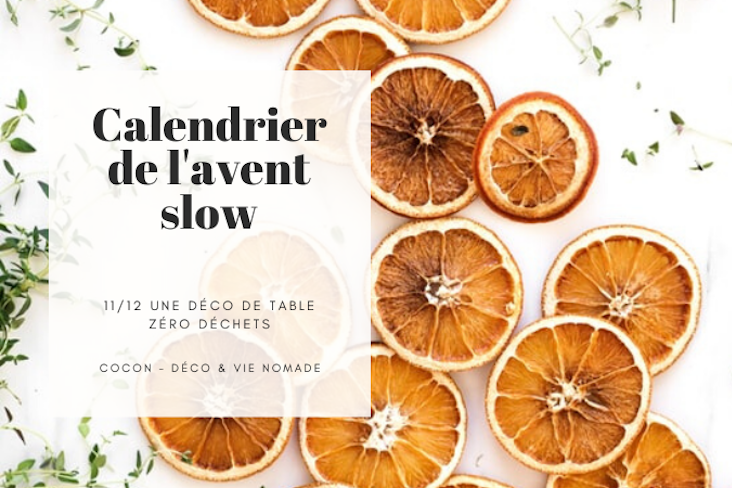 calendrier avent slow deco table noel zero dechet