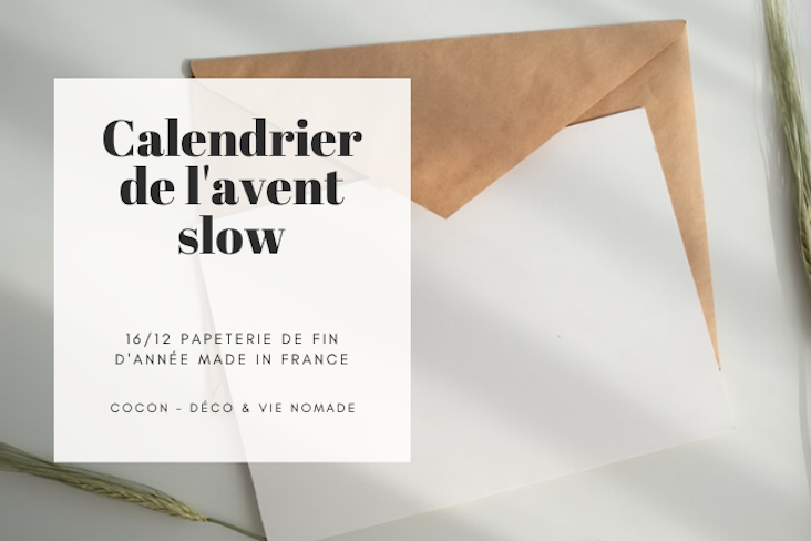 calendrier avent slow papeterie made in france