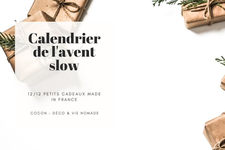 calendrier avent slow petit cadeau made in france