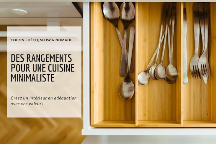 cuisine deco minimaliste rangement conseils