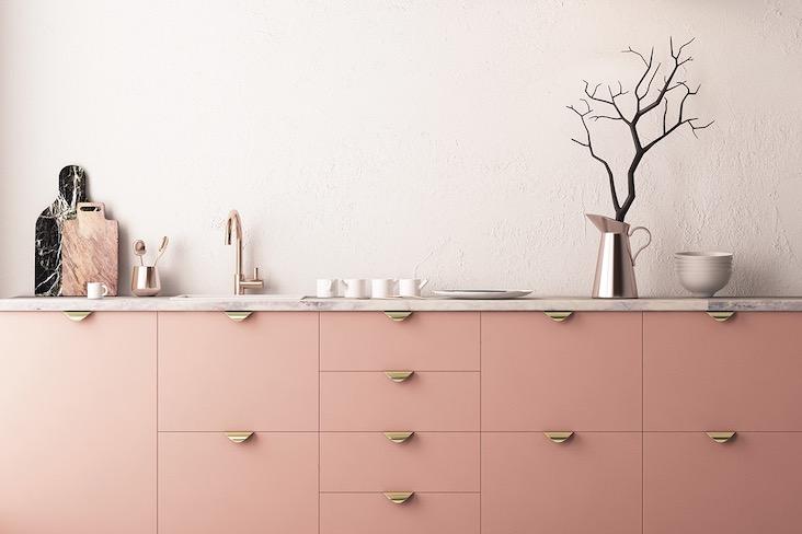 cuisine ambiance elegante et feminine idee decoration
