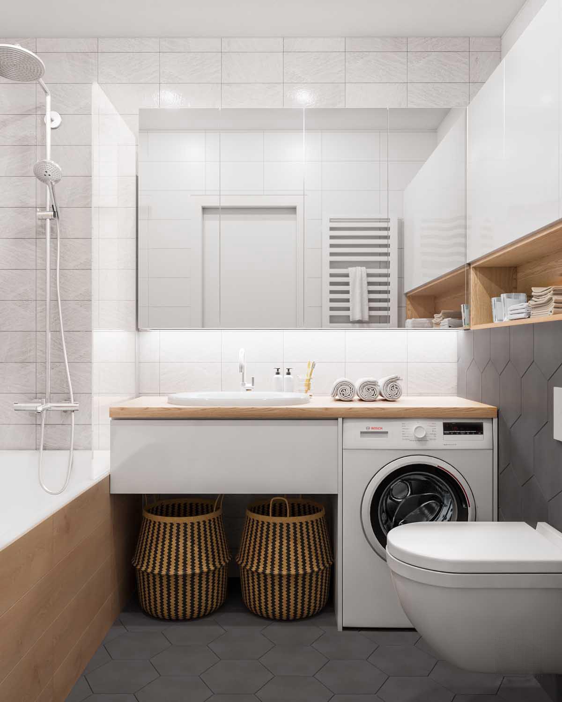 Meuble Salle De Bain Pour Machine A Laver conseils déco] avoir un espace buanderie dans une petite