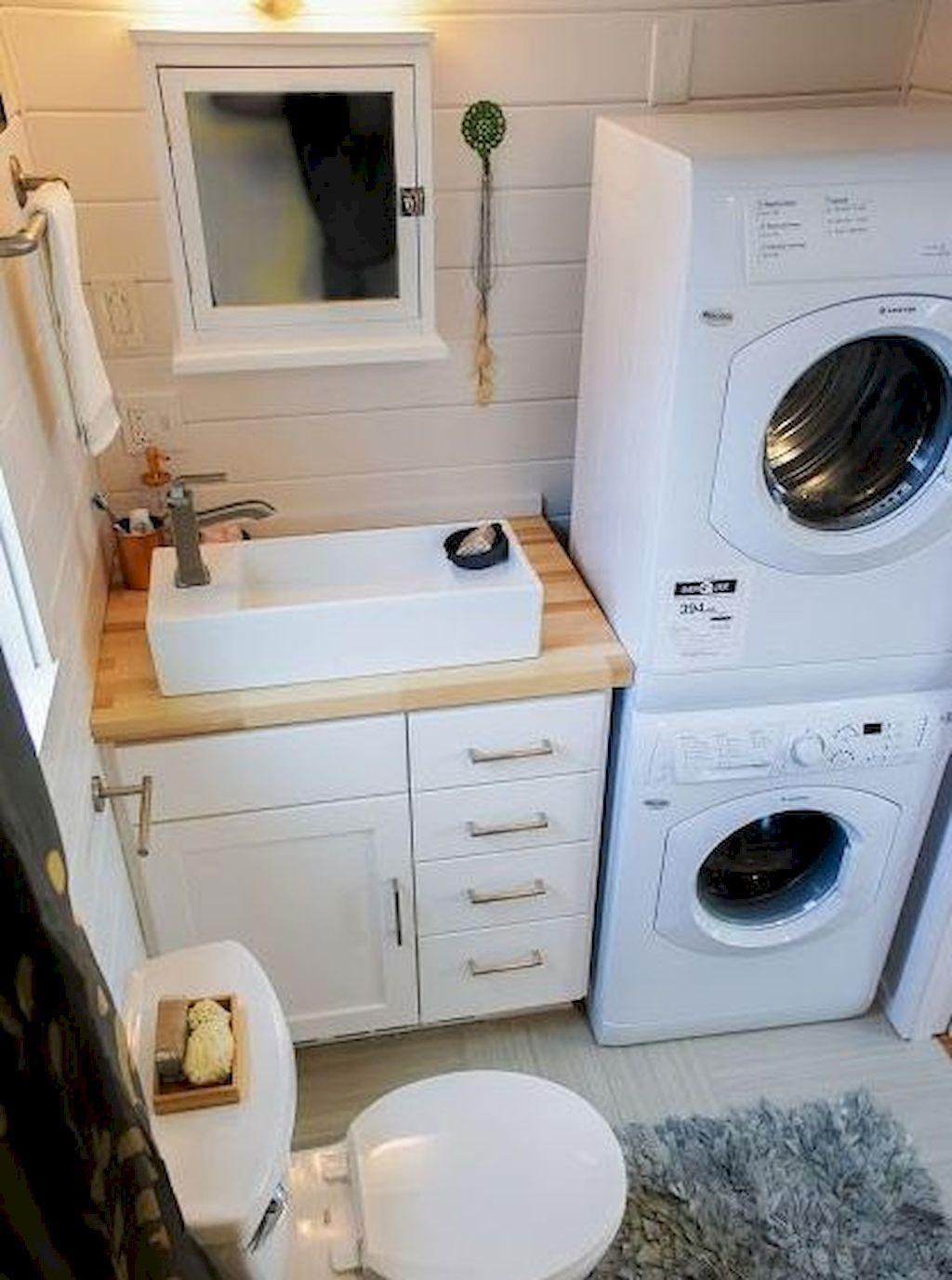 Lave Linge Dans Salle De Bain conseils déco] avoir un espace buanderie dans une petite