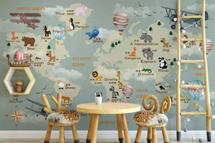 papier peint motif chambre enfant selection deco