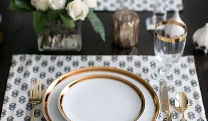 idee decoration de table avec or dore