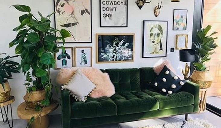 ou trouver canape velours vert tendance