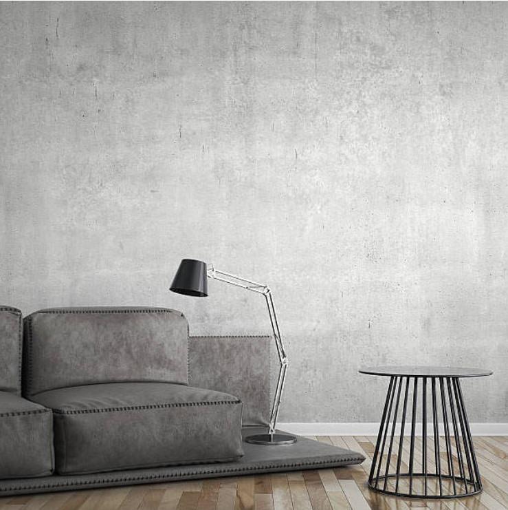deco beton cire mural gris