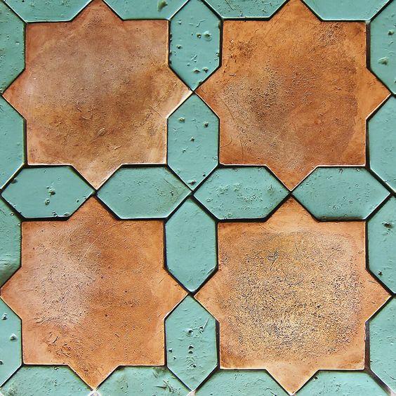 association couleur bleu terracotta