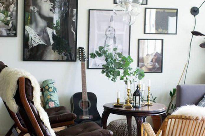 comment decorer salon ambiance rock