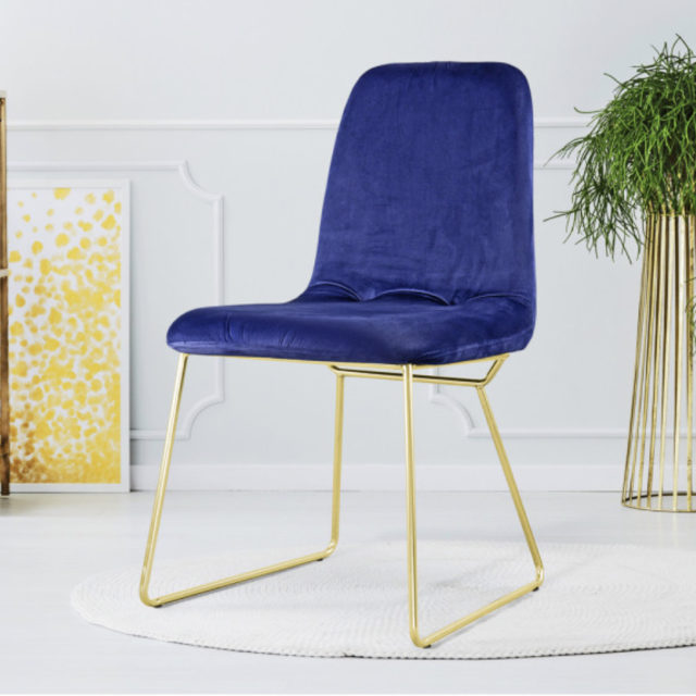 ou trouver chaise en velours bleu 006