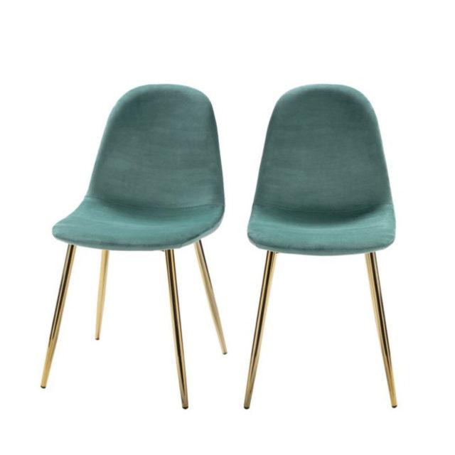 ou trouver chaise en velours vert 1
