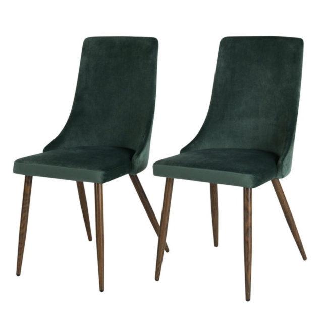 ou trouver chaise en velours vert 3