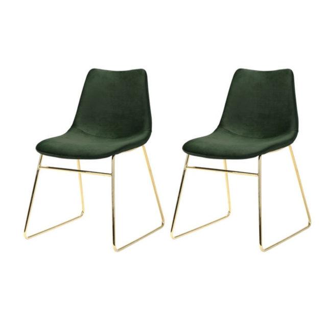 ou trouver chaise en velours vert 4