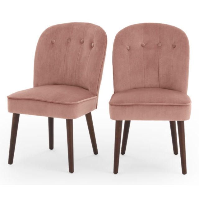 ou trouver chaise velours rose 1
