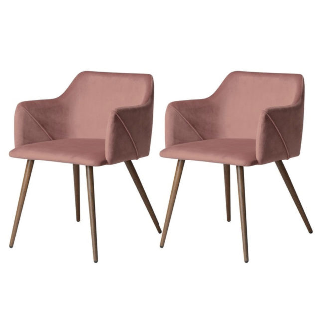 ou trouver chaise velours rose 3