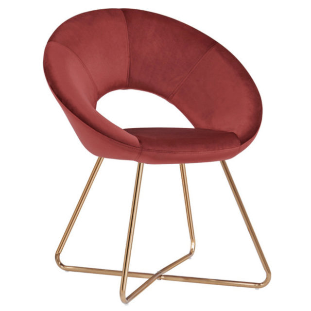 ou trouver chaises fauteuil velours couleur rouge