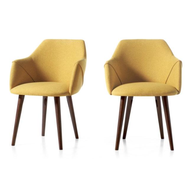 ou trouver chaises velours couleur jaune