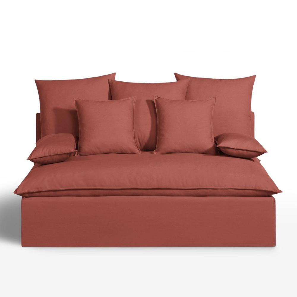 couleur terracotta salon accessoire decoration 16