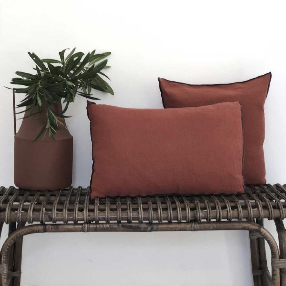 couleur terracotta salon accessoire decoration 2