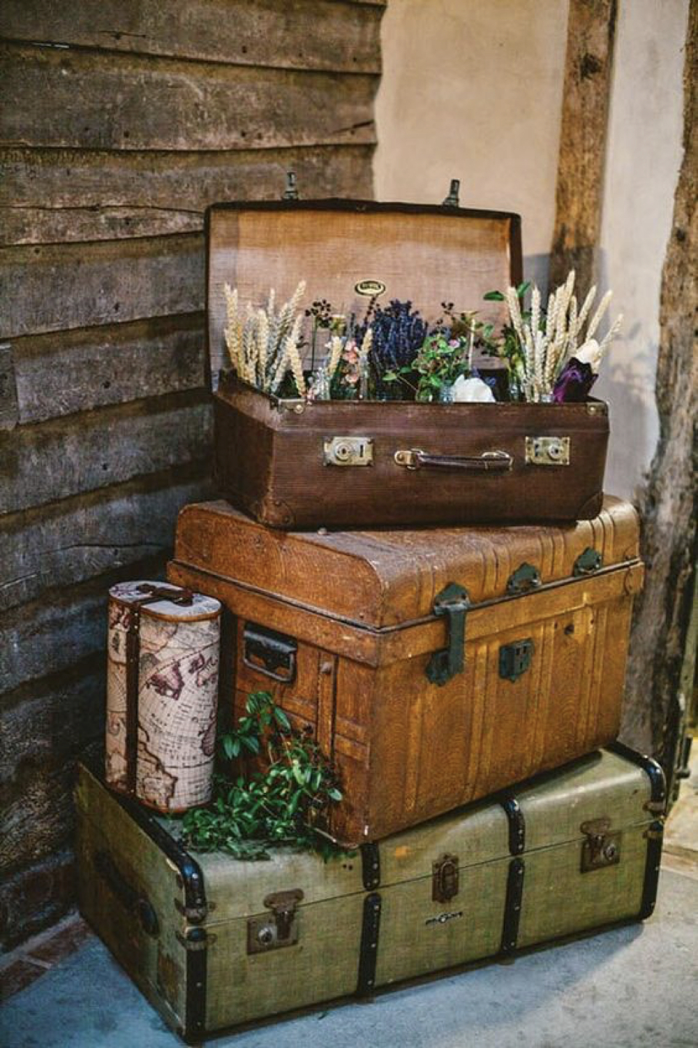 deco brocante valise ancienne recup 3