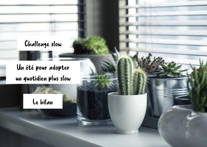 bilan challenge slow quotidien moins mais mieux