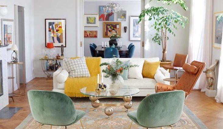 idee decoration style arty salon