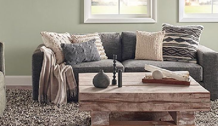 salon couleur tendance vert sauge idee decoration
