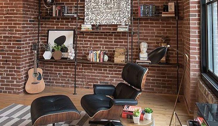 decoration rock quels materiaux choisir brique cuir bois industriel elegant vintage