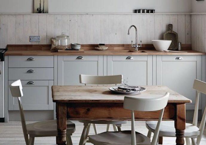 idee deco cuisine classique chic couleur materiaux exemple