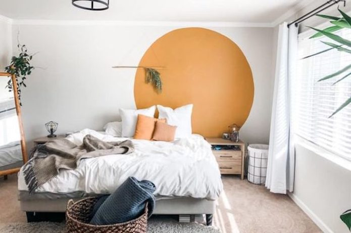 blog inspiration deco moderne eclectique décor mural peinture chambre petit espace plantes vertes
