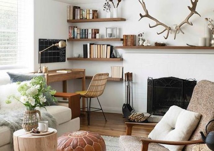 idee a copier bureau dans salon aménagement agencement pièce à vivre confort bien être idée décoration conseils