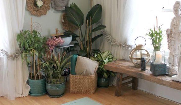 inspiration deco qualtidien detente plante interieur jardin banc voyage évasion minimalisme slow intérieur slow-living