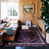 exemple deco petit salon vintage boheme ambiance intime
